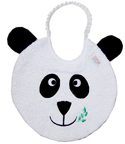 Zigozago - Baby Bib PANDA BEAR - Tie: Elastic - One Size