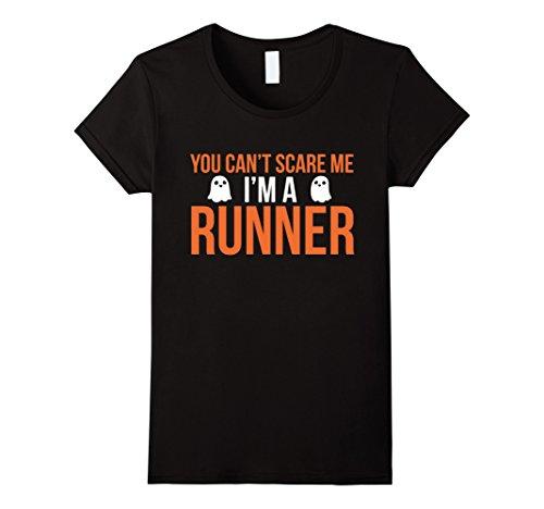 Runner Up Halloween Costume (Womens Funny Marathon Runner Costume Tshirt - For Halloween Medium Black)