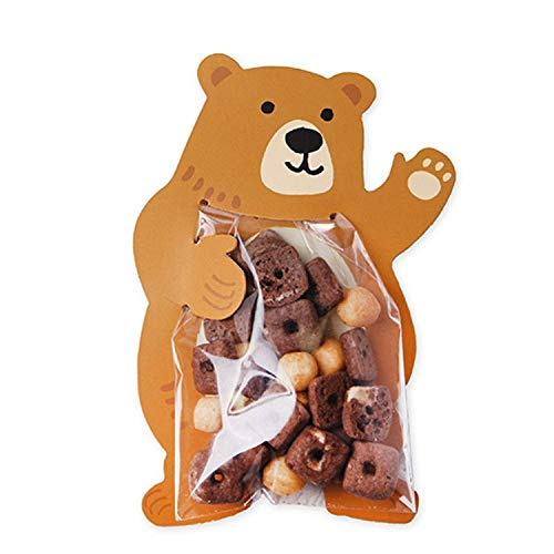10pcs/lot Easter Rabbit Animal Bear Candy Bags Cookie Bags Gift Bags Greeting Cards Baby Shower Birthday Party Candy from Yichener