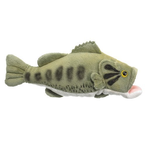 Wild Life Artist Large Mouth Bass Plush Toy, 10