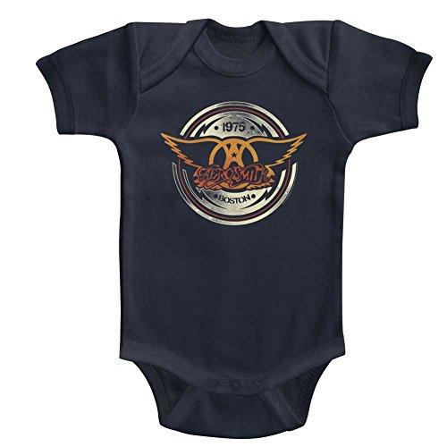 Aerosmith American Rock Band 1975 Boston Aerocircle Infant Baby Snapsuit - Kramer Rocks