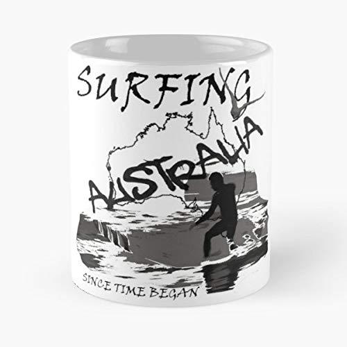 Australia Surfing Surfer Surf Board - 11 Oz White -coffee Mug- Unique Birthday Gift-the Best Gift For Holidays.