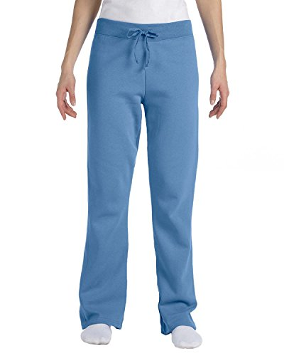 Hanes W550 Ecosmart Cotton-Rich Women Drawstring Sweatathletic-pants Size 3 Extra Large, Carolina Blue