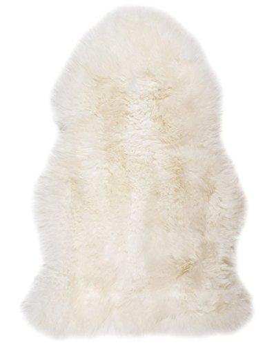 Natürliches Schaffell Teppich, rutschfest, rutschfeste Rückseite, maschinenwaschbar, Metallnieten Ideal für Haustiere, Sitze &Armlehnstühlen oder Fliesen