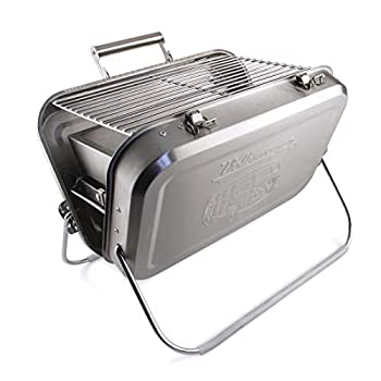 Image of BRISA VW Collection VW T1 Bus Portable BBQ Grill - Stainless Steel Camping Grills