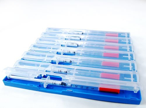 10 pcs - Syringe Tray - 7 Compartment (various colors) (Blue)