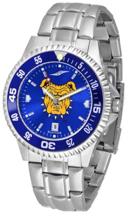SunTime North Carolina A & T Aggies Competitor AnoChrome Men's Watch with Steel Band and Colored -