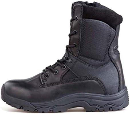 軍事戦術牛革暖かい通気性ハイトップストラップスタイルの登山靴滑り止め耐摩耗ラバーソールをキープ (色 : 黒, サイズ : 27 CM)