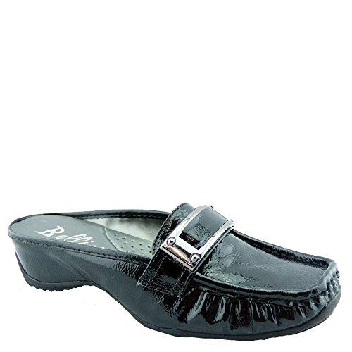 Bellini Women's Whirl Slip On Fashion Mules, Black, 7.5 - Strap Bellini