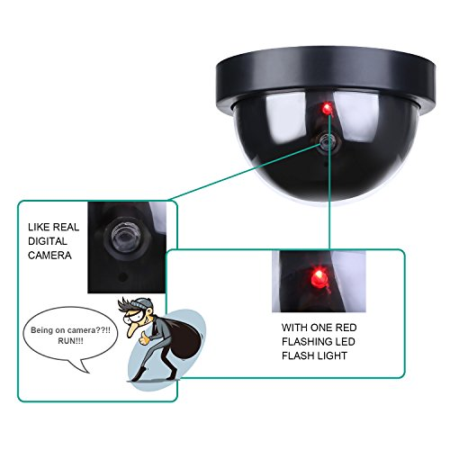 4 Pack Indoor Outdoor Video Surveillance Silly Dome Fake Camera Flashing LED US
