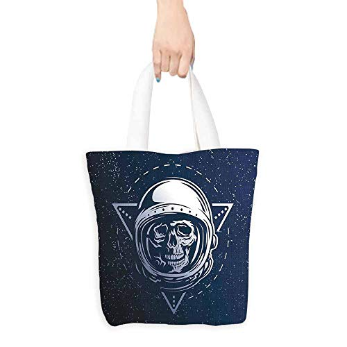 (Outer Space Carrying Bag Dead Skull Head Icon Cosmonaut Costume Astronomy Terrestrial Horror Scare Image boutique 16.5