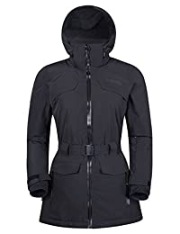 Mountain Warehouse Heuz Women's Extreme Ski Jacket - Breathable, Waterproof, Taped Seams ISODRY Fabric, Adjustable Waist Belt, Recco Reflectors with Hood