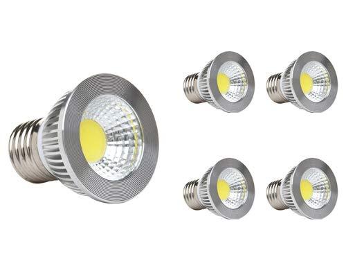GOOLSUN 5-watt PAR16/HR16 LED COB Flood Bulb, 2700K Warm White, Dimmable, 90° Beam Spread, 50-watt Equivalent, 500 lumens, CRI 80+, Short Neck, AC 120V, E26 Medium Base, 2.2 Length - (Pack of 4)