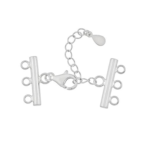 (Sterling Silver Bracelet Necklace 3-Strand Reducer Extender Lobster Clasp)