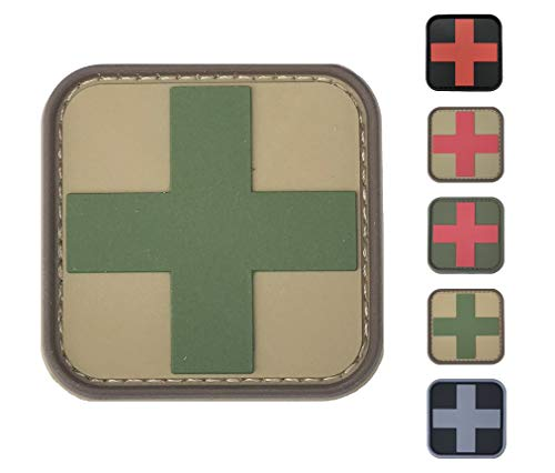 Medic Red Cross First Aid Morale Patch - Perfect for IFAK Rip Away Pouch, EMT, EMS, Trauma, Medical, Paramedic, First Response Rescue Kit, Tactical, Combat, Emergency, Blow Out, EDC Bag (Multi-Camo)