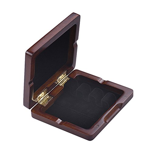 Bassoon Reed Case,Wooden Bassoon Reed Box Maroon Hand Carved for 3pcs Reeds by ammoon (Image #8)