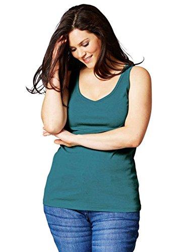 Sheego - Camiseta sin mangas - para mujer petróleo