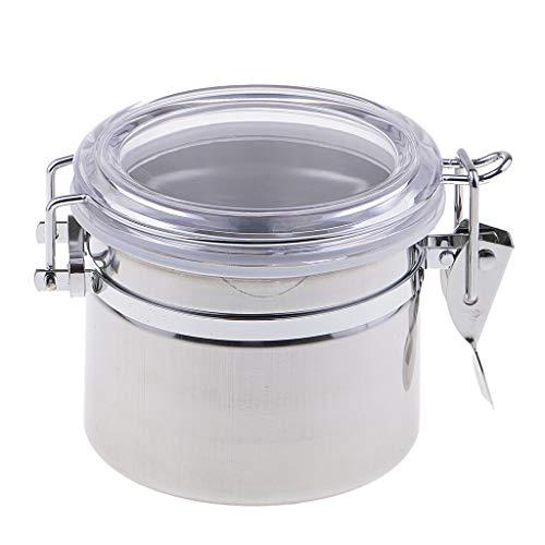 Prettyia Silver Metal Pipe Tobacco Tin Can Humidifier Moisture Box Pot Capacity C