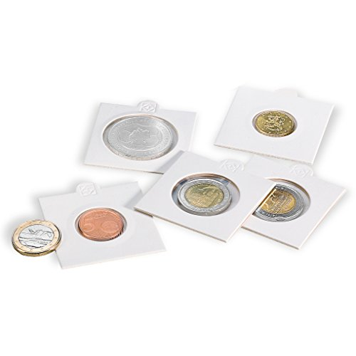 BCW Peel-N-Seal Self-Adhesive 2x2 Coin Flips for Pennies 100ct