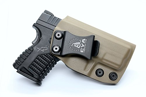CYA Supply Co. IWB Holster Fits: Springfield XD-S 3.3 9mm / .40S&W / .45ACP Single Stack - Veteran Owned Company - Made in USA - Inside Waistband Concealed Carry Holster
