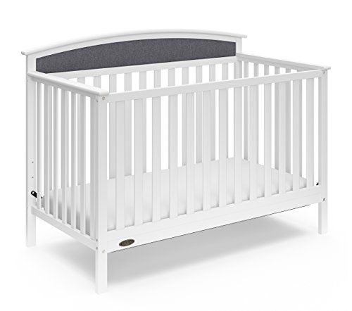 Graco Everly 5-in-1 Upholstered Convertible Crib with Revers
