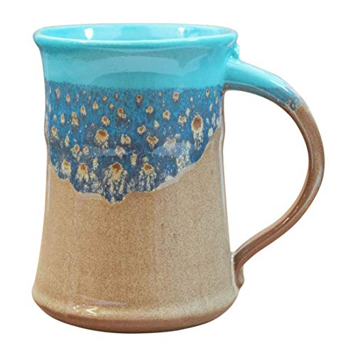 Clay in Motion Handmade Ceramic Large Mug 20oz - Island Oasis
