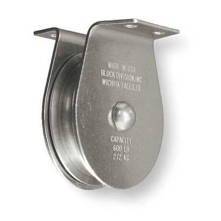 Pulley Block, Wire Rope, 525 lb.