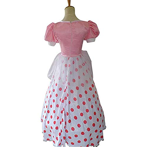 Toy Story Cosplay Bo Peep Cosplay Costume Halloween Christmas Cosplay Costume (XL) Pink