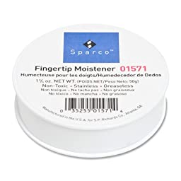 S.P. Richards Company Sortkwik Fingertip Moistener, Nonskid Back, 1-3/4 oz. (SPR01571)