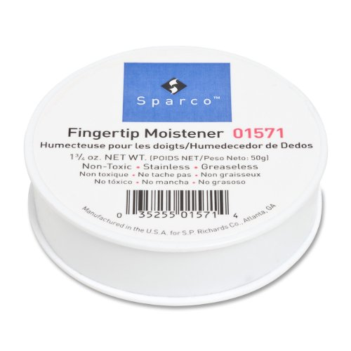 S.P. Richards Company Sortkwik Fingertip Moistener, Nonskid Back, 1-3/4 oz. (Sparco Products Fingertip Moistener)