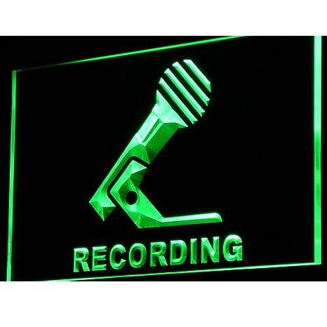 ADVPRO Cartel Luminoso i799-g Recording Microphone On Air ...