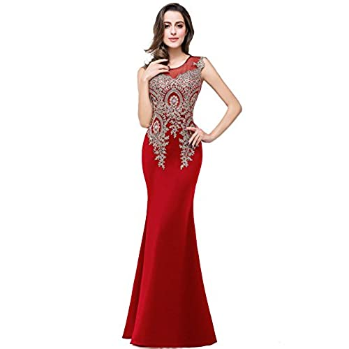 Red Lace Mermaid Style Prom Dresses: Amazon.com