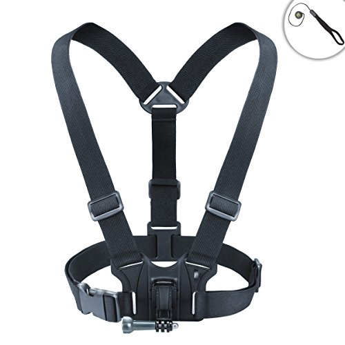 USA Gear Compact Camera Action Harness Mount Strech-Fit Elas