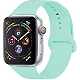 YANCH Compatible with for Apple Watch Band 38mm 40mm, Soft Silicone Sport Band Replacement Wrist Strap Compatible with for iWatch Series 4/3/2/1, Nike+,Sport,Edition,S/M,Size,Mint Green