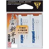 がまかつ(Gamakatsu) テトロン糸付 タナゴ鈎 フック 新半月 ハリス-テトロン#100 釣り針