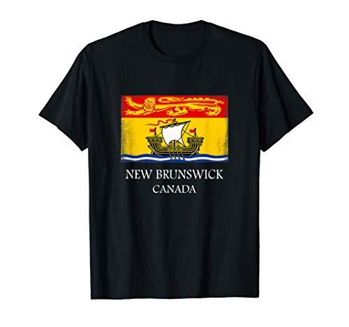 New Brunswick T Shirt Canada Province Flag Tee