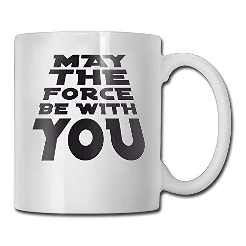 Taza de te, que la fuerza te acompane tazas de te, tazas de cafe de ceramica blanca antideslizante perfectas para companeros de trabajo, viajes,11