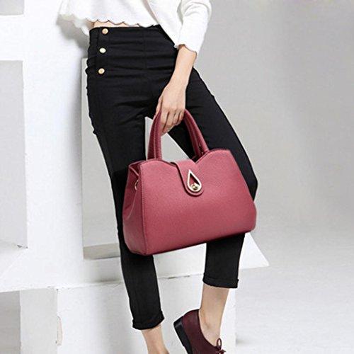 Bag Working Handbag Office Messenger Red Shoulder Watermelon Fashion Bag Satchels Womens Ladies Leather Bag RttUq