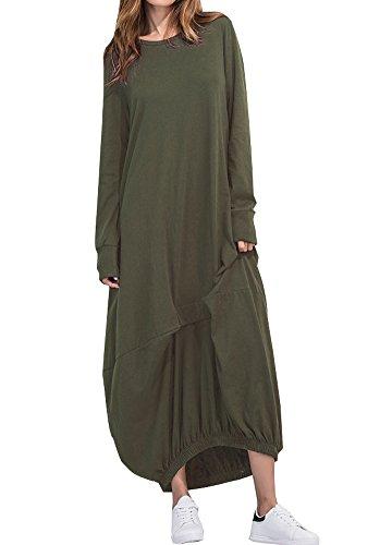 Wicky LS - Vestido - para mujer verde Ejercito Verde M