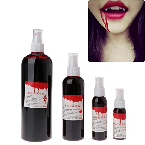 Halloween - Fake Blood Makeup Cos Ultra-Realistic Fake Blood Props for Theater and Costume or Halloween Zombie, Vampire and Monster Dress Up (B#60ml) for $<!--$3.14-->