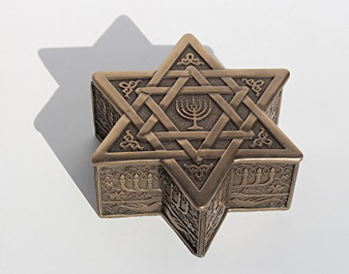 Star Of David With Menorah Jewelry Box 4 3/4 Inch long by Unknown (Image #3)