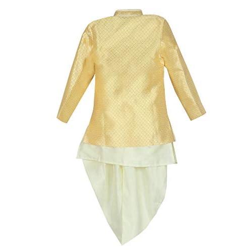 41AIaY3CSjL. SS500  - AHHAAAA Kids Ethnic Wear Waistcoat, Indo Western Sherwani and Dhoti Pant for Boys
