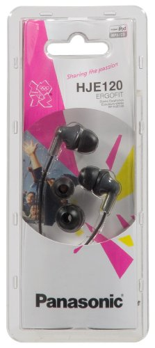 Panasonic RP-HJE120E2K Ergo Fit Ear Canal Headphones