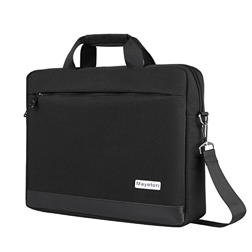 Laptop Bag, Mayetori 15.6 Inch Laptop Briefcase for Men Women College Student, Business Computer Messenger Shoulder Bag, Water Resistant Laptop Case for Notebook MacBook Tablet by Mayetori