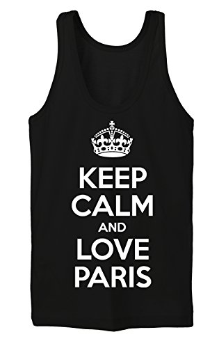 Keep Calm And Love Paris Tanktop Girls Noir