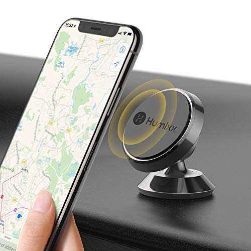 - Magnetic Phone Holder for Car, Humixx 360° Adjustable Dashboard Phone Car Mount Compatible with iPhone XS Max iPhone XS X 8 8 Plus 7 7 Plus, Samsung S9 S8, Huawei, HTC, LG, ZTE [Easy Series] - Black