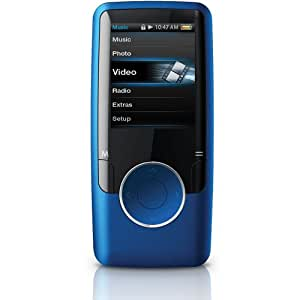 Coby MP620-4GBLU 1.8 Inch 4GB Video MP3 Player - Blue (Discontinued by Manufacturer)
