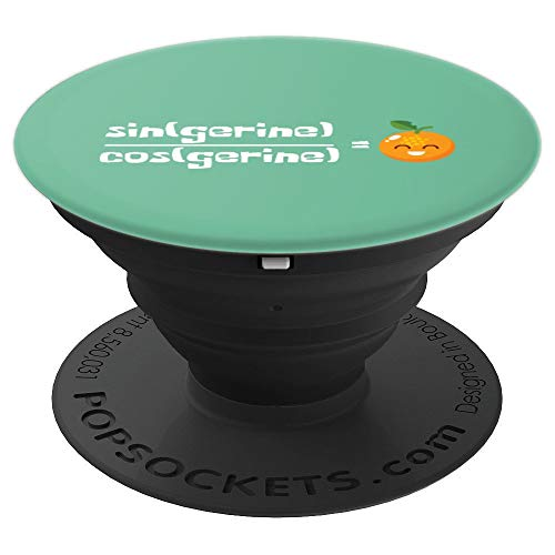 Cute Tangerine Math Joke Mathematician Math Teacher Calculus PopSockets Grip and Stand for Phones and Tablets