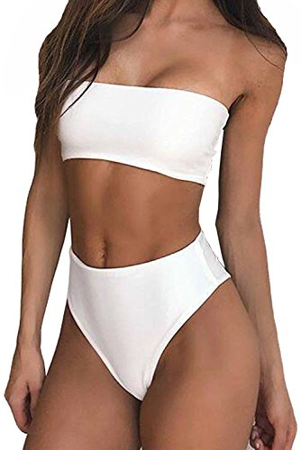 Cheap White Bandeau Bikini Top in Australia - 1