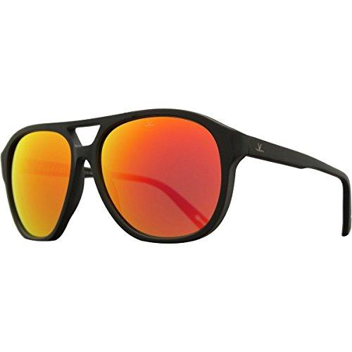 Vuarnet Pilot Horizon VL 1607 Matte Black Pure Blue Red Flashed Glass Mirror - Glacier Vuarnet Sunglasses